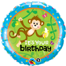 Birthday Monkey Go Bananas Foil Helium Balloon